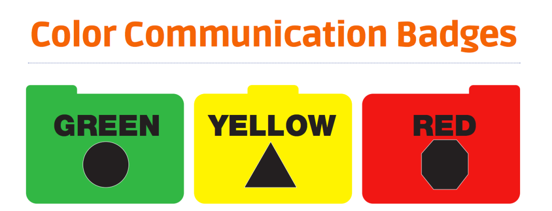 Color Communication Badges